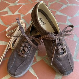 Keds LEATHER Sneakers Brown Suede Size 8.5
